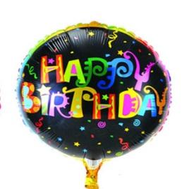 Happy Birthday black 45x45cm